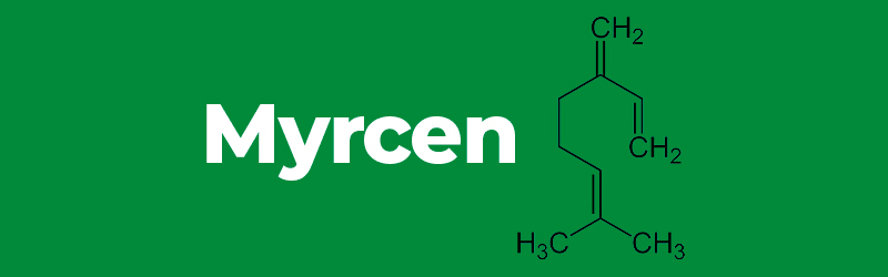 Chemical structure of the terpene Myrcen. CBD terpenes. terpenes cannabinoids benefits. Buy vapes and cbd oil online UK.